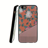 Caja híbrida del teléfono móvil de la flor TPU para iPhone-Anaranjado