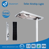 LED lámpara de calle solar integrada con panel solar