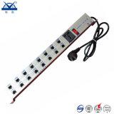 Dispositivo di protezione dell'impulso del segnale RJ45 della rete di potere degli zoccoli dell'alluminio 16