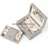 Caixa de empacotamento do armazenamento de couro sintético colorido da caixa de jóia