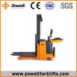 Zowellの新しく熱い販売Ce/ISO90001 5.5mの持ち上がる高さの電気スタッカー上の1.5トンの覆い