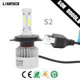 3 Seiten-Selbstlampen-Zusatzgerät mit Scheinwerfer des VERSTECKTEN Xenon-Installationssatz-45W und 8000lm Auto-LED (H7/H1/H4 /H8/9/11 Emark)