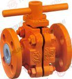 Тефлоновое ПТФЭ PFA шаровой клапан с насечками ANSI 150 Pn10 16 Q41 2ПК