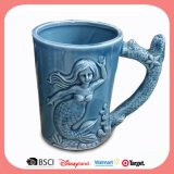 Taza Mug de cerámica antigua personalizado con relieve Océano Style