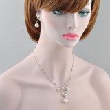 最新のラインストーンのネックレスの方法水晶ビードの真珠の宝石類セット