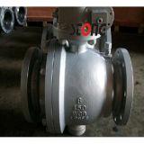 Válvula de esfera montada do aço de molde da entrada do API 2PCS eixo lateral de 150lb