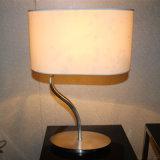 S Forma lámpara de mesa de noche de acero inoxidable para el proyecto hotelero