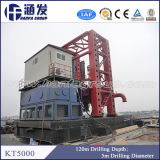 Por completo plataforma de perforación hidráulica de la pista de conducción KT5000