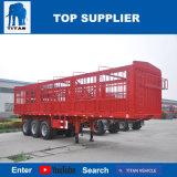 Het Voertuig van de titaan - Flatbed Semi Aanhangwagen van de Omheining van de Aanhangwagen van de Container voor Verkoop