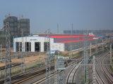 Constructions de bâti en acier industrielles préfabriquées en acier légères de vente chaudes des prix de construction de bâtiments