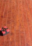 Assoalho estratificado impermeável gravado AC4 da hicória do anúncio publicitário 12.3mm