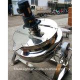 Caldaia di cottura rivestita dell'olio dell'acciaio inossidabile con il miscelatore