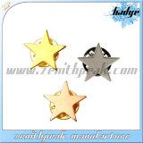 Customiedの形の金属の均一記章の星の襟ピン