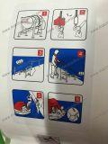 Jangada vida ID de plástico com uma corda do Tubo