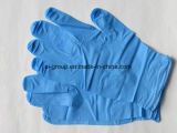 Luvas de nitrilo azul descartáveis