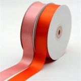 Polyester-zweiseitiges Satin-Farbband für die Geschenke, die Dekoration Wedding sind