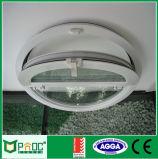 MEDIADOS DE apertura Windows redondo de aluminio con el vidrio Tempered Pnoc0015urw