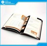 Impressão feita sob encomenda do folheto do livro do catálogo do tamanho