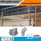 Braçadeira de vidro Certificated Ce dos trilhos do aço inoxidável para a balaustrada e corrimão ao ar livre