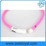 LED recarregável USB grossista de fábrica Pet iluminado Coleira