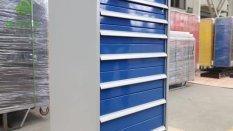 10ft metal drawer workbench with sliding ball rail