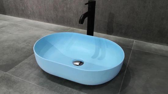 Concrete Bathroom Sinks Lavatory Basin, Bathroom Basin Sink