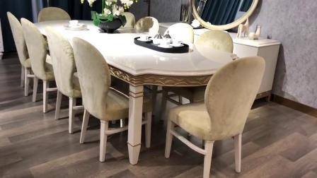 China Home Furniture Solid Wood High Glossy Cream Color Modern Furniture Dining Table Designs China Dining Table Dining Table Set