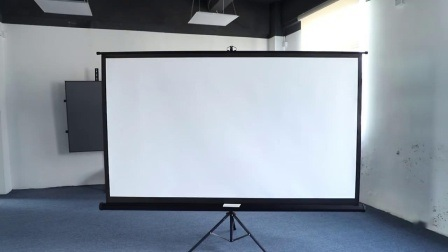 China Portable Projector Screen Tripod Stand Mobile Projection Screen Lightweight Carry Durable Easy Pull Assemble System For Schools Meeting Conference Indoor China Tripod Screen Tripod Projection Screen