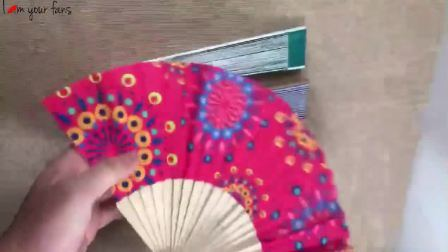 China Custom Cartoon Pattern On Cover Wood Hand Fan For Wholesale China Folding Wood Fan And Custom Logo Folding Wood Fan Price