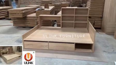 China Wholesale Modern Wooden Bedroom Set Living Room Furniture Children Wood Single Double King Queen Size Bunk Kids Beds China Bedroom Set Bedroom Bed