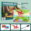 New Magnetic Puzzle Role Play Change Clothes Dinosaurs Thinking Training Game Learning Educational Toys for Kids New Year Christmas Promotion Gift