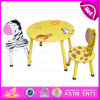 2015 Round Table and Chair for Kids, Animal Design Children Wooden Table and Chairs, Wooden Toy Table Chairs for Christmas W08g140