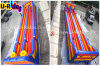 Wholesale sport games double lane Inflatable Bungee Run with Basketball hoops