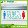 Professional Environmental Protection Restroom Acrylic Tag LED Light Sign