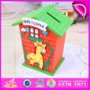 2015 Saving Collection Money Saving Box, Best Quality Colorful Money Safe Box, Money Saving Wholesale Wooden Money Box W02A029