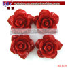 Synthetic Coral Carved Rose Flower Pendant Garment Accessory (BO-3079)