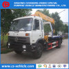Dongfeng 4X2 8ton Flatbed Truck Mounted Crane Towing Truck