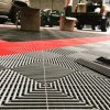 High Quality Interlocking Heavy Duty Ribbed and Diamond PVC Garage Tiles Flooring for Sale