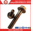 Brone Carbon Steel Hex Flange Bolt M12 Brass