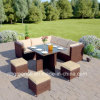2018 New Design Corner Cube Dining Set Rattan Garden Furniture