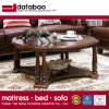 Latest Simple Design Solid Wood Round Coffee Table for Home Use with Good Quality As838