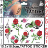 Temporary Water Transfer Rose Tattoo Sticker (CG037)