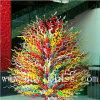 Multicolour Tree T Blown Glass Craft Sculpture for Decoration
