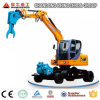 Small Excavator for Sale, 8t 0.3cbm Bucket Wheel Excavator, Track Excavator for Sale