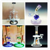Handblown Borosilicate High Quality Straight Tube Percolator Tall Color Bowl Glass Craft Ashtray Inventory for Glass Water Pipe