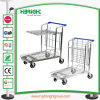 4 Wheels Heavy Duty Warehouse Cargo Trolley Transport Cart