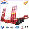 3axles Excavator Transport Gooseneck Lowboy Low Bed Lowbed Semi Trailer