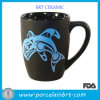 Blue Whale Print Matt Porcelain Coffee Mug