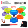 Chinese Yoyo 3 or 5 Bearings Diabolo Set Glass Fiber Sticks with String Bag