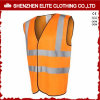 Wholesale Custom Made Orange Reflective Safety Work Vest (ELTHVVI-3)